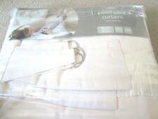 "George Curtains - Cream - 60"" x 90"" - Pencil Pleat with Tie backs - BNIB"