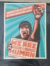 Conjunto de impresión de Shepard Fairey Obey firmado-la reforma migratoria Chica & somos los seres humanos