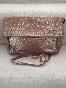 "pollini leather shoulder bag 11"" x 8"""