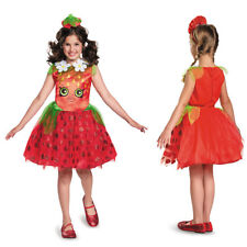 Disguise Shopkins Strawberry Kiss Classic Child Girl Halloween Party Costume Small