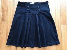 CHILDREN'S PLACE Cotton Stretch Midnight Blue Uniform Pleated Skirt, Size 6
