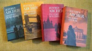 Jeffrey ARCHER - 4 romans, comme neufs