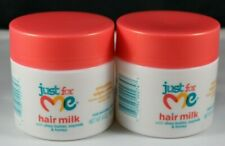 Lot of 2 Just For Me! Hair Milk Smoothing Edges Creme, 4 oz BRAND NEW
