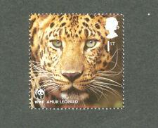 Amur Leopard-Big Cats-Great Britain mnh WWF Anniv-2011