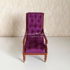 1:12 Dollhouse Miniature Furniture Recliner Reclining Chair Chaise Lounge Wheels