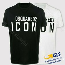 T SHIRT ICON Uomo Donna DSQ Maglietta 100% Cotone logo dsquared2 replica