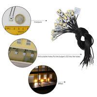 20pcs Pre Wired WARM White SMD 3528 Led Lamp Light Set 12V DD00WM