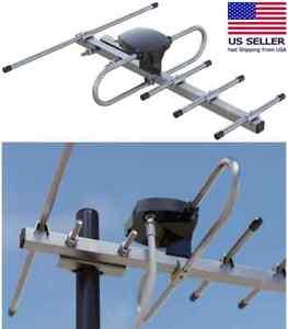 Outdoor TV Antenna Amplified Digital 1080P 4K 360 Rotate HDTV UHF VHF FM 200Mile
