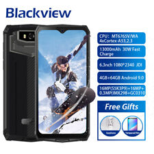 "6.3"" Blackview Bv9100 13000mAh 4Gb+64Gb Smartphone Ip69K Waterproof 16.0Mp 2-Sim"