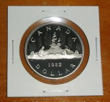 Canada 1982 Proof Nickel Dollar Voyageur One $1 Coin