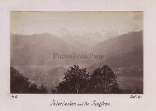 Interlaken and the Jungfrau SuisseSwiss Bern Vintage albumine