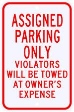 3M Reflective Assigned Parking Only Violation Sign Dot Municipal Grade 12 x 18