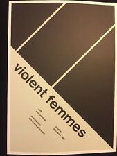 """Agent Orange & Violent Femmes. 2 Sided Rock Concert Mini Poster Op Art 14x10""""R43"""