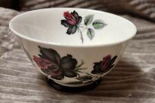 """Vintage Royal Albert """"Masquerade"""" Large Sugar bowl Black Gothic Rose 5x3"""" 1960's"""