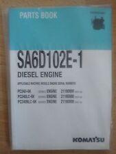 Komatsu Dieselmotor SA6D102E-1 Ersatzteilkatalog