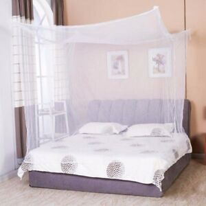 4 Corner Post Bed Canopy Mosquito Net Full to King Size Netting Bedding Room Kit