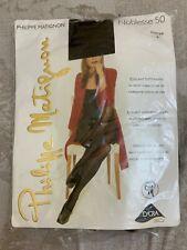 Philippe Matignon coffee pantyhose  opaque mat 50den with lycra 3D sheer sz 4