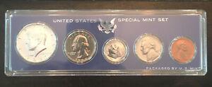 1967 SMS Set Original Box 40% Silver Kennedy US Special Mint Set 5 Coins