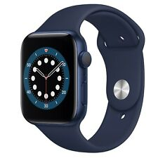 Apple Watch Series 6 40mm Blue Aluminum Case with Navy Blue Sport Band GPS
