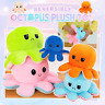 Plush Octopus Reversible Cute Flip Soft  Happy Sad  Mood Toy gift
