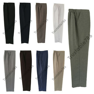 Ladies Women Smart Fit Half Elasticated Waist Pull On Polyester Trouser UK Made