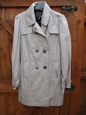 Ripcurl Grey Double Breasted Check Mac / Coat Size S /  8 / 10