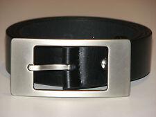 New Mens Black Leather Belt Size 32  -  81cm     (B104)