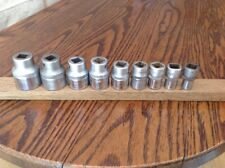 """9 Hazet 900z Sockets 11/16"""" To 3/16"""" Whitworth With 1/2"""" Drive."""