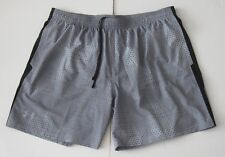 """2XL Men Under Armour 7"""" Launch Printed Running Shorts Fitted Gray Geo new NWT"""
