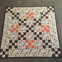 Handmade Baby or Toddler Quilt-Kitty Cats Irish Chain