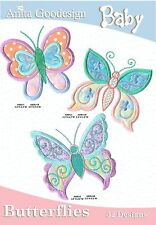 Baby Butterflies Anita Goodesign  Embroidery Design cd CD ONLY
