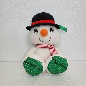 Vintage 1997 Fisher Price Cozie Thermal Waffle Snowman Stuffed Plush Christmas