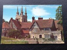 POSTCARD: LEICESTER SQUARE AND THE CHURCH: PENSHURST: COLOUR: UN POSTED
