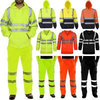 Hi Viz Vis Premium Hoodie Work Hooded Sweatshirt Bomber Jacket Pants Workwear