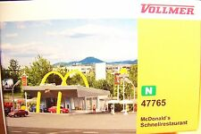 N scale Vollmer : McDonald's Restaurant with McDrive : Building KIT + NEW IN BOX
