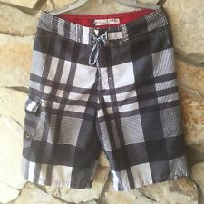 Ezekiel Boy's Board Shorts Swim Trunks Size 28 Surf Youth Black White Red