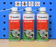 ( 26 / L) 3 Würth HHS Drylube 3x400ml profesional Chainspray lubricante