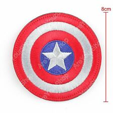 High Quality Avengers Captain America Shield Hook Loop Embroidered Patch BS5 B5.