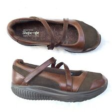 Skechers Sketchers shape ups Chocolate Brown leather women's size 11 Mary Janes