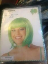 SHORT BOB WIG Green DRESS COSPLAY WIGS PARTY COSTUME Haloween Decor 1sz
