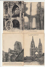 Lot 4 cartes postales anciennes GUERRE 14-18 WW1 SOISSONS 13