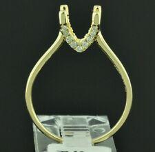 0.11 ct 14k Solid Yellow Gold ladies Natural Diamond Ring Setting Semi Mount