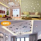 3D Mirror Star Wall Sticker Removable Decal DIY Stickers Home Art Modern Decor
