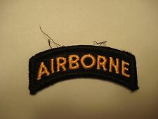 Military US ARMY Airborne Tab Patch, Black & Gold