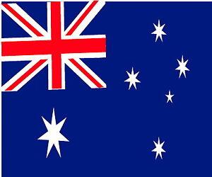 Aussie Australia Flag, Huge Car Roof, Large Truck Sticker Decal 1200 x 1000mm