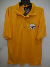 0521 Mens PITTSBURGH STEELERS 100% Polyester SIDELINE Jersey Shirt GOLD New