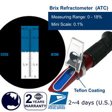 0-18% Brix (Maple syrup, Jam, Sauces, Juice Concentrates etc.) Refractometer ATC