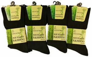 6 Pairs Of Mens Bamboo Loose Top Socks, Super Soft Anti Bacterial Socks, 6-11