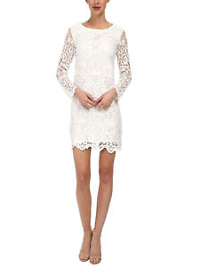 French Connection Nebraska Lace Dress White - RRP £125