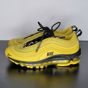 Nike Air Max 97 GS Bright Citron Youth Shoes Size 4Y Yellow Black BV1242-700